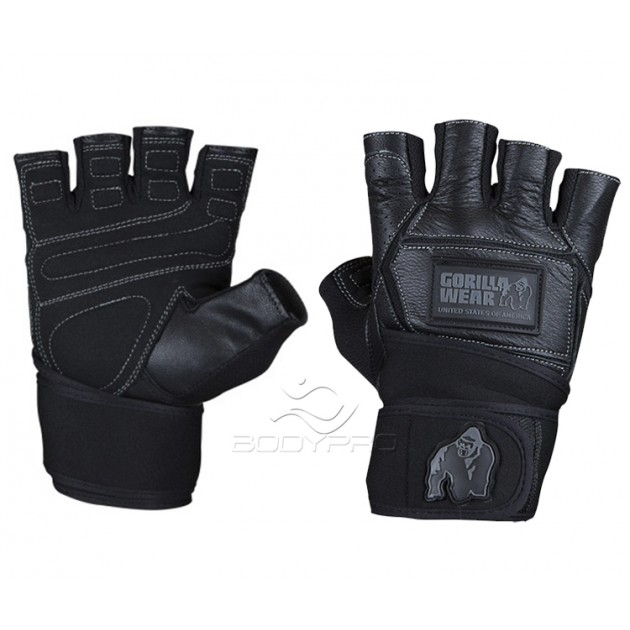 Gorilla Wear Перчатки Hardcore Wrist Wraps Gloves Black