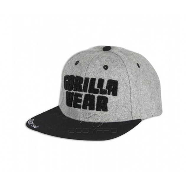 Gorilla Wear Кепка Soft Text Flat Brim Gray/Black