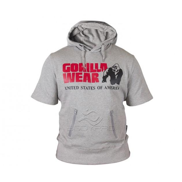 Gorilla Wear Толстовка Boston Short Sleeve Hoodie Grey