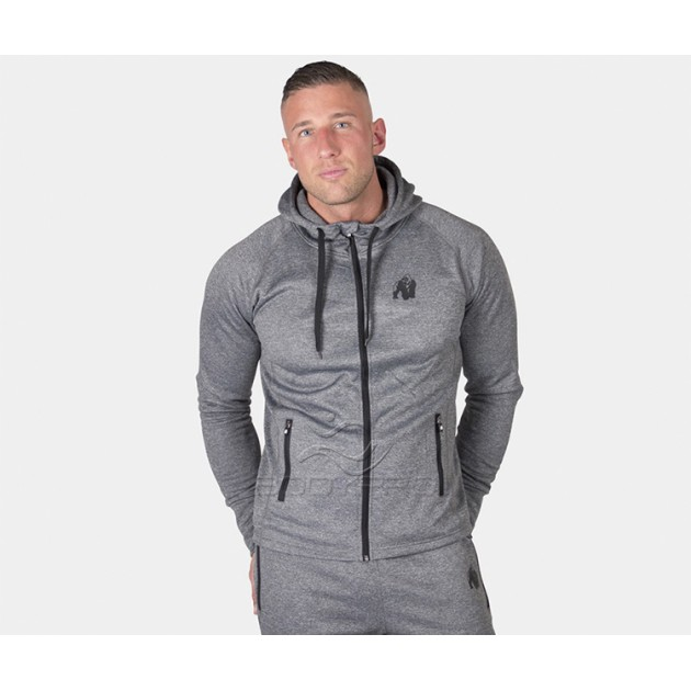 Gorilla Wear Толстовка Bridgeport Zipped Hoodie Dark Gray