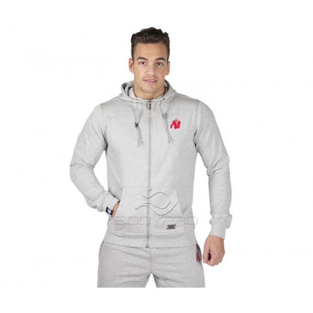 Gorilla Wear Толстовка Classic Zipped Hoodie Gray