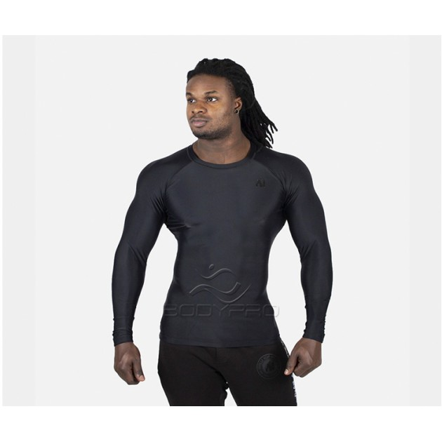 Gorilla Wear Hayden Compression Longsleeve Black/Black
