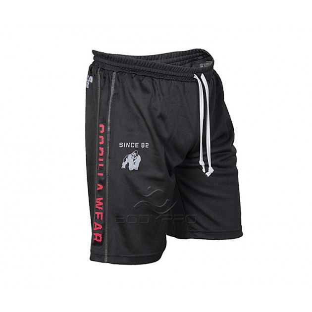 Gorilla Wear Шорты Functional Mesh Shorts Black/Red