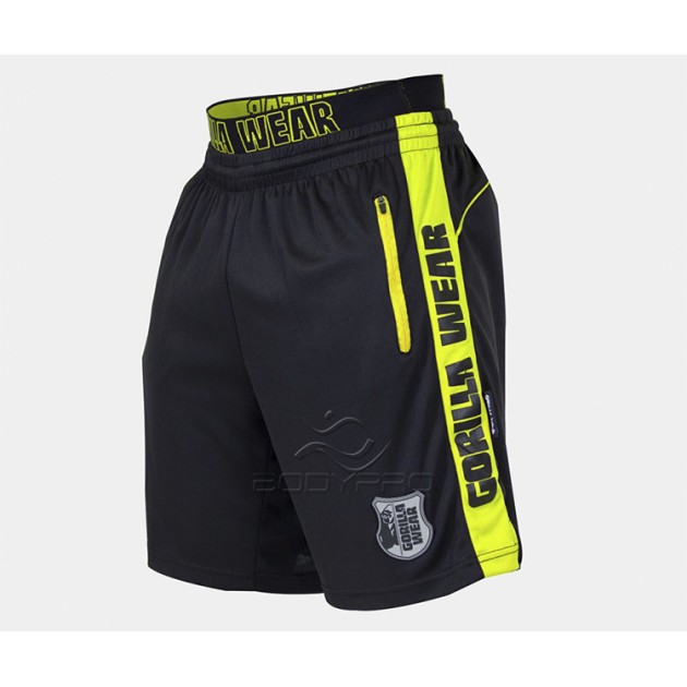 Gorilla Wear Шорты Shelby Shorts Black/Neon Lime