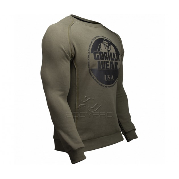 Gorilla Wear Толстовка Bloomington Crewneck Sweatshirt Army Green