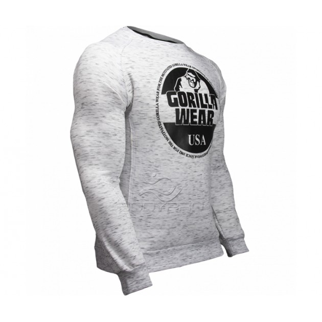 Gorilla Wear Толстовка Bloomington Crewneck Sweatshirt Mixed Gray