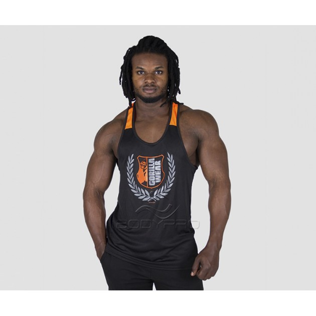 GorillaWear Майка Lexington Tank Top Black/Neon Orange
