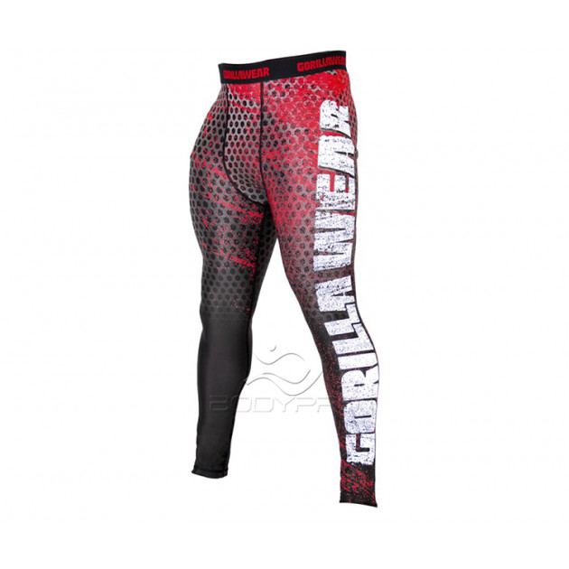 Gorillawear Тайстсы Bruce Men's Tights Red/Grey