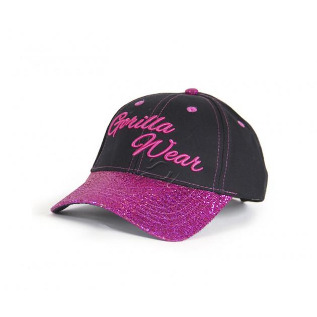 GorillaWear Louisiana Glitter Cap Black/Pink