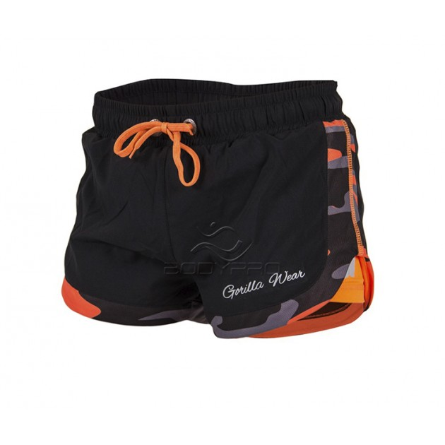 Gorilla Wear Шорты Denver Shorts Black/Neon Orang
