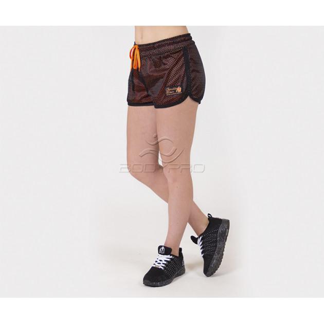 Gorilla Wear Шорты Madison Reversible Shorts Black/Neon Orange