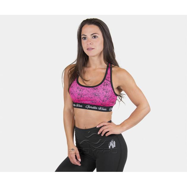 GorillaWear Топ Hanna Sports Bra Black/Pink