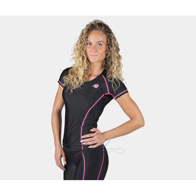 GorillaWear Футболка Carlin Compression Short Sleeve Top Black/Pink