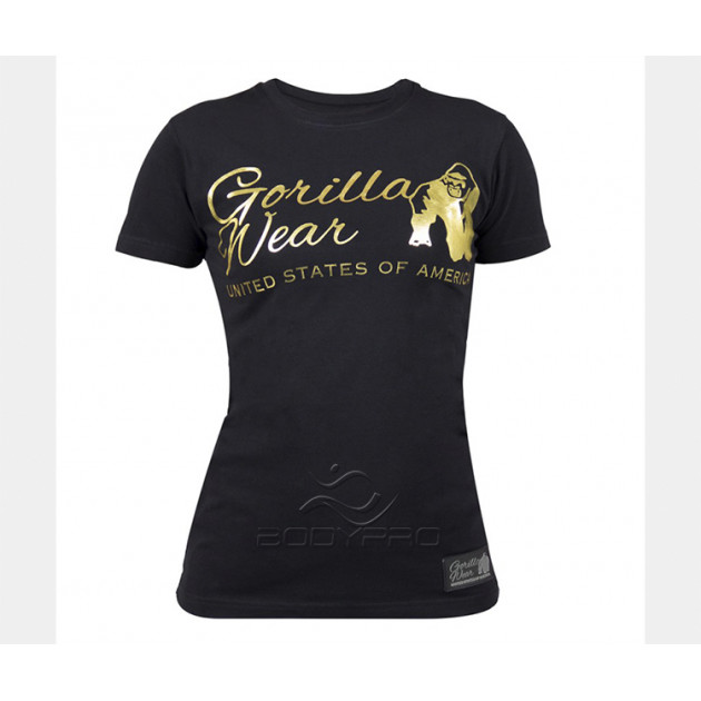 GorillaWear Футболка Luka T-shirt Black/Gold