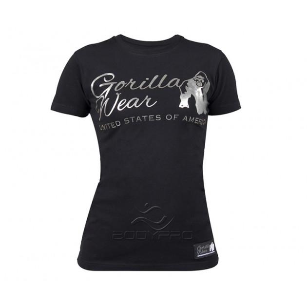 GorillaWear Футболка Luka T-shirt Black/Silver