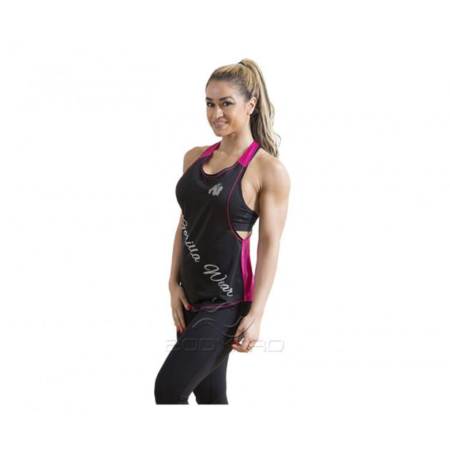 Gorilla Wear Майка Florida Stringer Tank Top Black/Pink