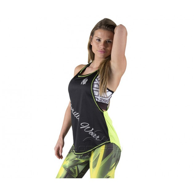 Gorilla Wear Майка Florida Stringer Tank Top Black/Neon Lime
