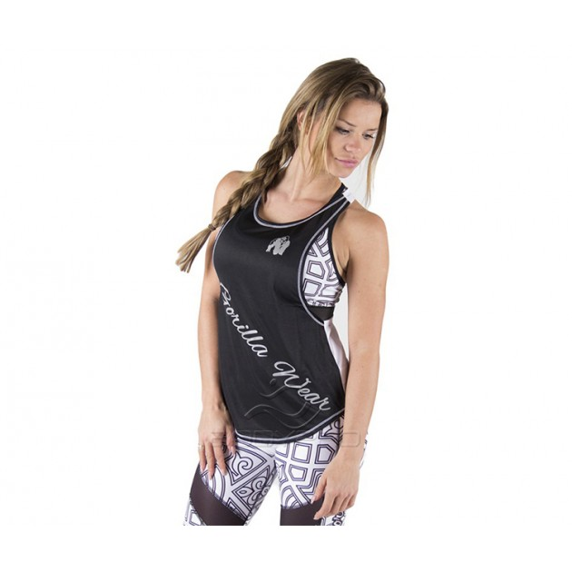 Gorilla Wear Майка Florida Stringer Tank Top Black/White