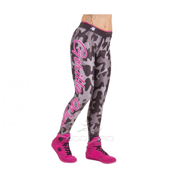 GorillaWear Легинсы Camo Tights Black/Gray