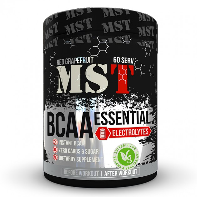 Аминокислоты MST Nutrition BCAA Essential  480 г Вишня
