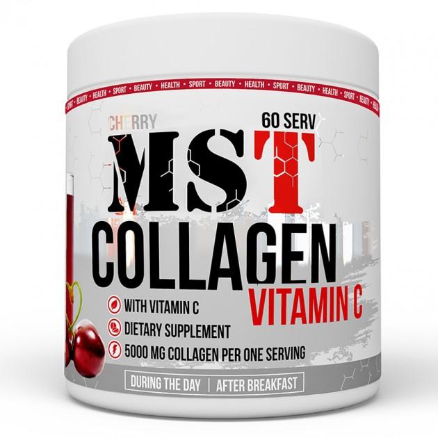 Специальный продукт MST Nutrition Collagen + Vitamin C 390 г Вишня