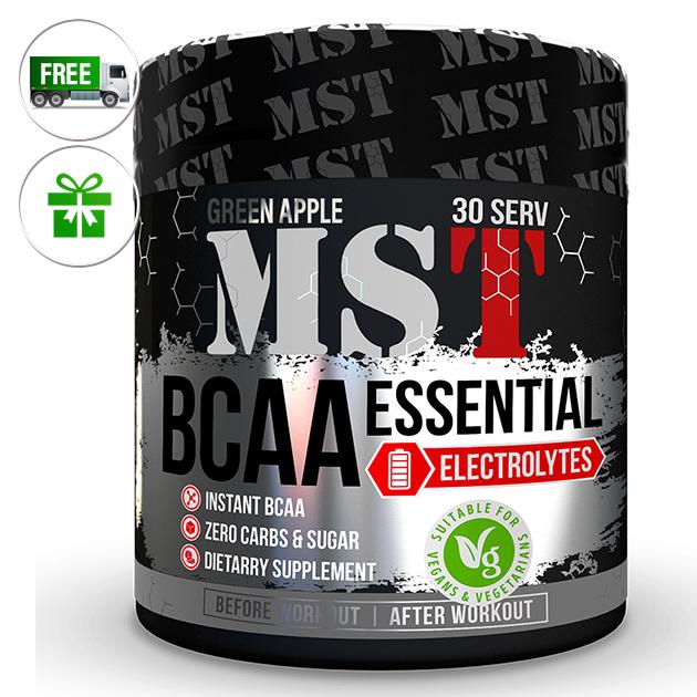 Аминокислоты MST Nutrition BCAA Essential  Electrolites  240 г Зеленое яблоко