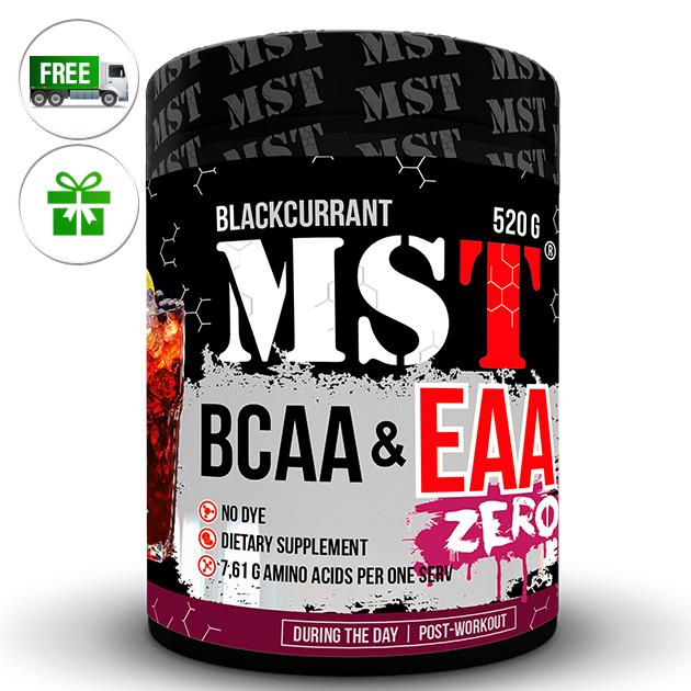 Аминокислоты MST Nutrition BCAA & EAA Zero 520 г Черная смородина