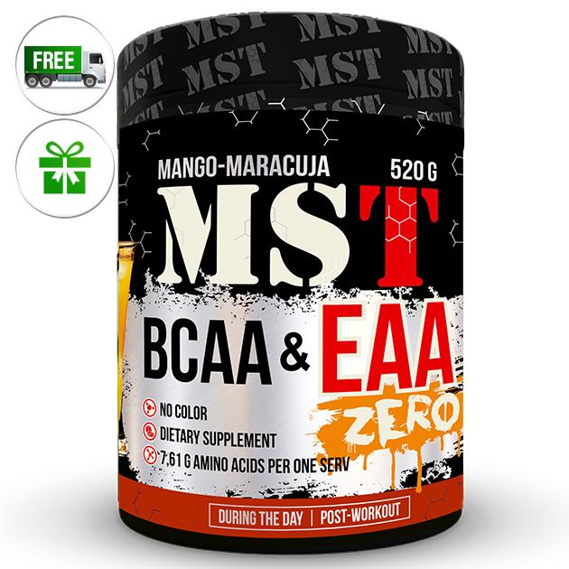 Аминокислоты MST Nutrition BCAA & EAA Zero 520 г Манго - Маракуйя