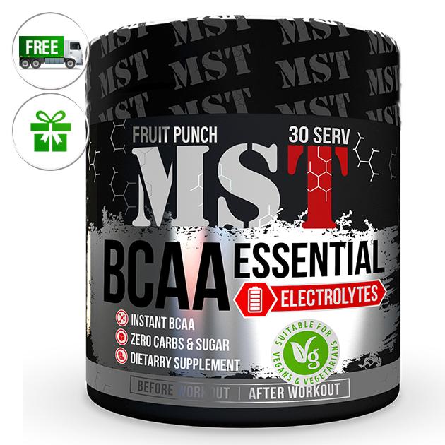 Аминокислоты MST Nutrition BCAA Essential Electrolites 240 г Фруктовый пунш