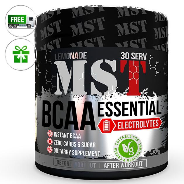 Аминокислоты MST Nutrition BCAA Essential Electrolites  240 г Лимонад