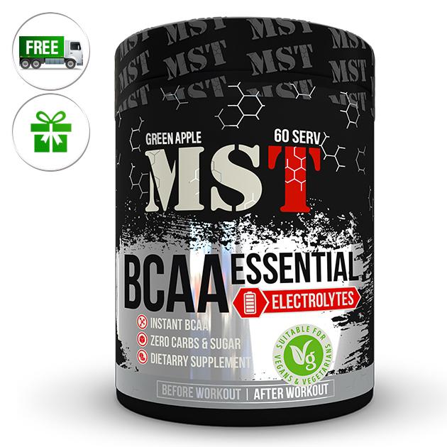 Аминокислоты MST Nutrition BCAA Essential Electrolites 480 г Зеленое яблоко