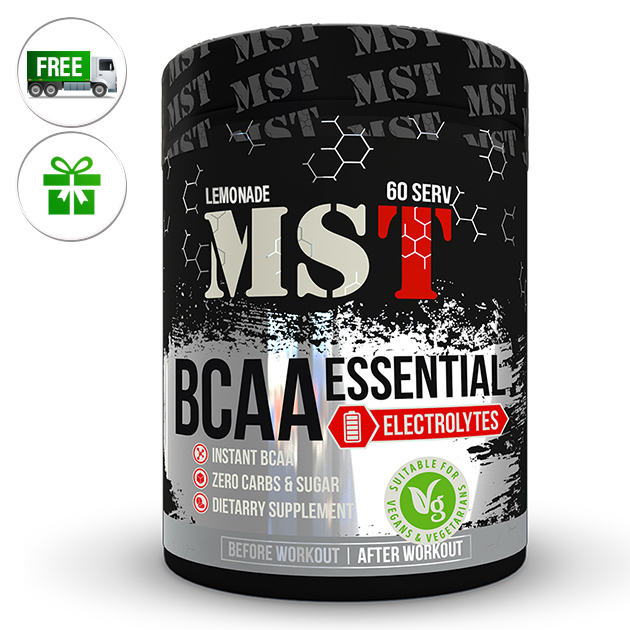 Аминокислоты MST Nutrition BCAA Essential Electrolites 480 г Лимонад