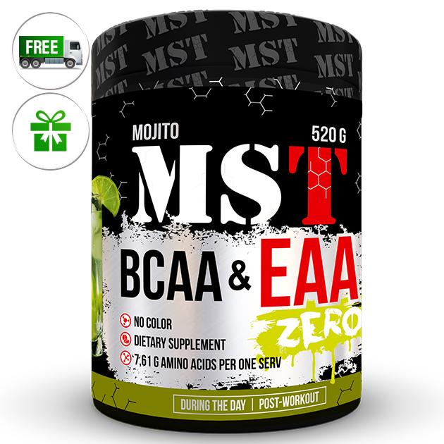Аминокислоты MST Nutrition BCAA & EAA Zero 520 г Мохито