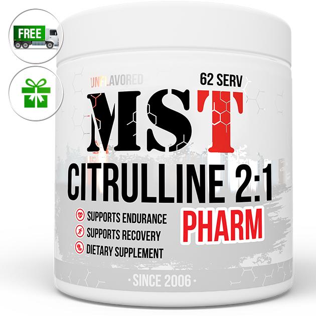 Предтренировочный комплекс MST Nutrition Citrulline Pharm 2:1 250 г