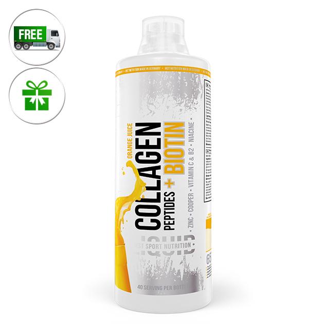 Специальный продукт MST Nutrition Сollagen Peptides plus Biotine 1000 мл Апельсиновый фреш
