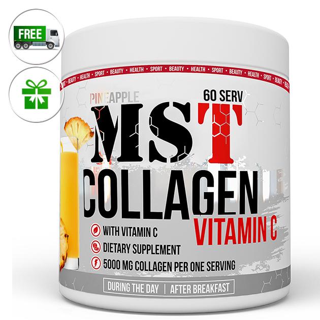 Специальный продукт MST Nutrition Collagen + Vitamin C 390 г Ананас