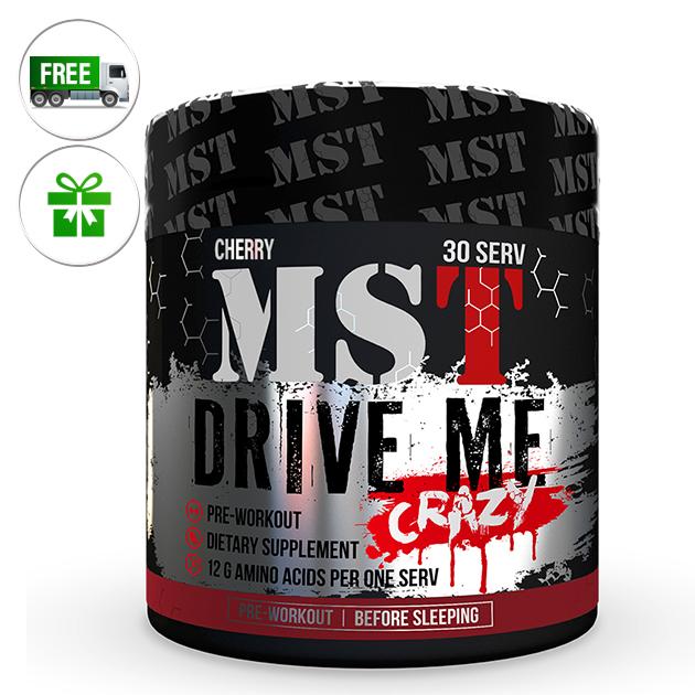 Предтренировочный комплекс MST Nutrition Drive Me Crazy 300 г Вишня