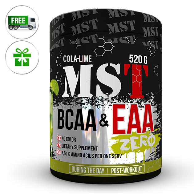 Аминокислоты MST Nutrition BCAA & EAA Zero 520 г Кола - Лайм