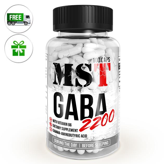 Аминокислота MST Nutrition GABA 2200 100 капс