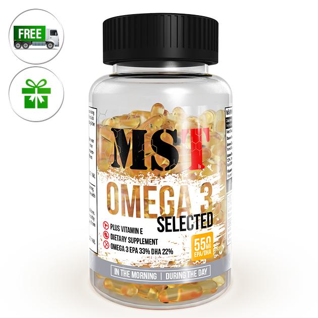 Жирные кислоты MST Nutrition Omega 3 Selected 110 капс
