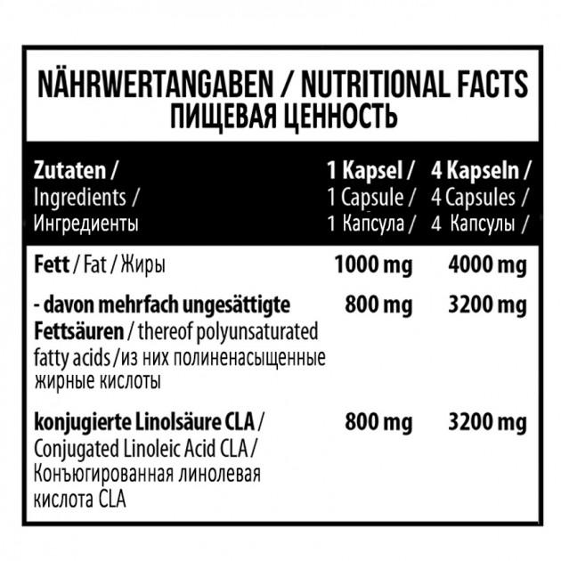 Жирные кислоты MST Nutrition CLA 4000 90 капс