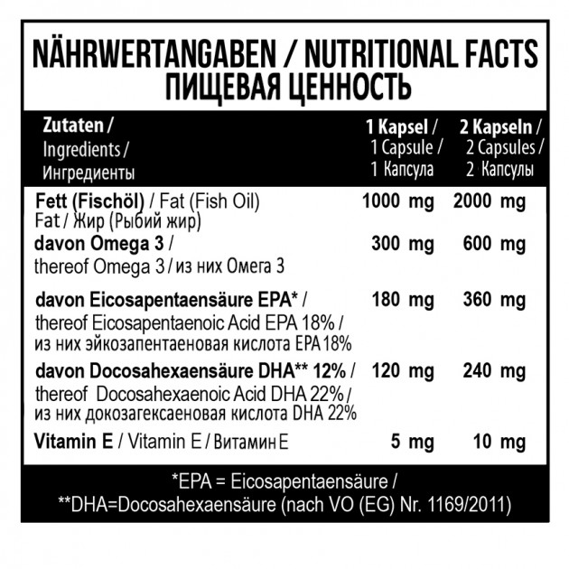 Жирные кислоты MST Nutrition Nordic Fish Oil 360 капс