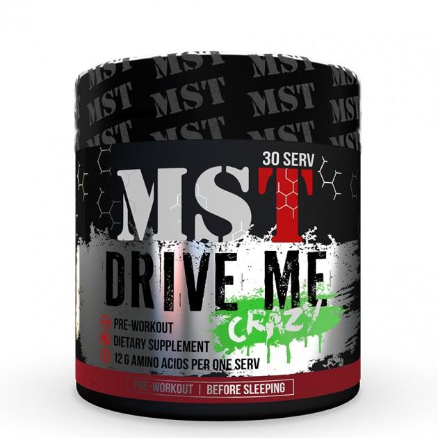 Предтренировочный комплекс MST Nutrition Drive Me Crazy 300 г Зеленое яблоко