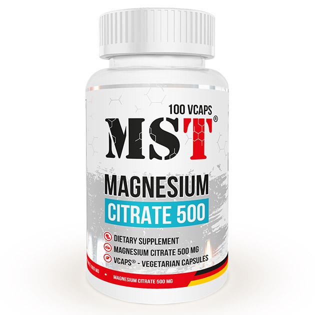 Минералы MST Magnesium Citrate 500 - 100  капс