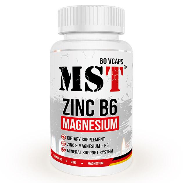 Минералы MST Nutrition Zinc B6 + Magnesium - 120  капс