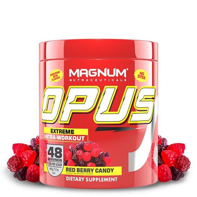 Энергетический предтринировочный комплекс Magnum Nutraceuticals Opus 444 г Красная ягода