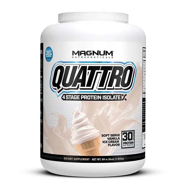 Изолят протеина Magnum Nutraceuticals Quattro 1820 гр Ванильное мороженое