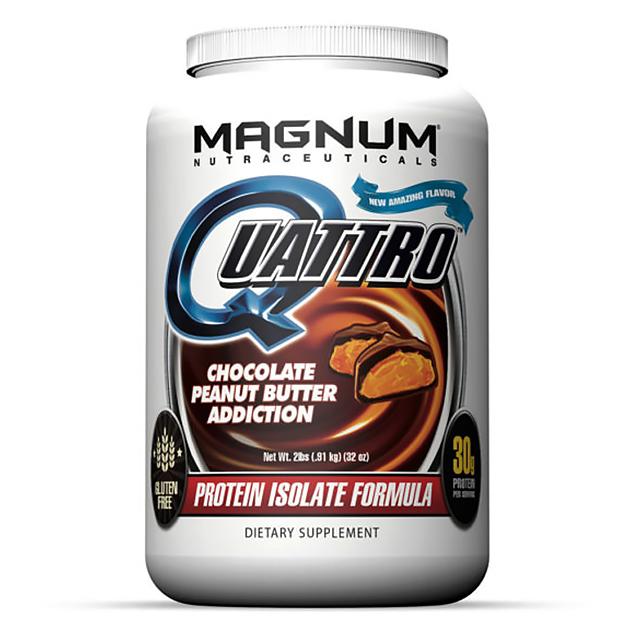 Изолят протеина Magnum Nutraceuticals Quattro 1820 гр Шоколад - Арахис
