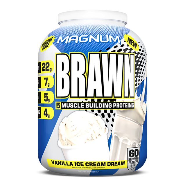 Протеин Magnum Nutraceuticals Brawn 2000 г Ванильное мороженое