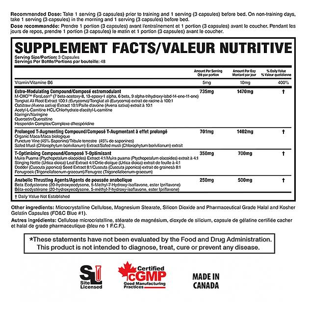 Стимулятор тестостерона и мышц  Magnum Nutraceuticals Thrust 120 капс